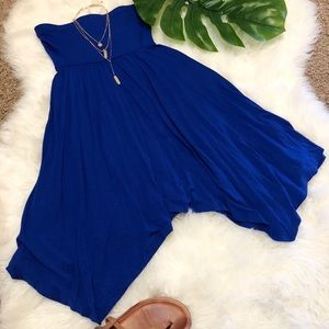 Express Royal Blue Halter Dress